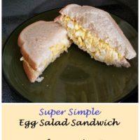 Super Simple Egg Salad Sandwich Recipe