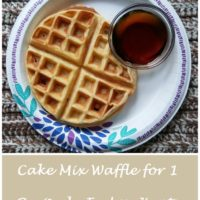 Cake Mix Waffle for 1 Recipe