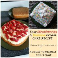 Easy Strawberries & Banana Cream Cake Recipe