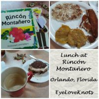 Lunch at Rincón Montañero in Orlando, Florida