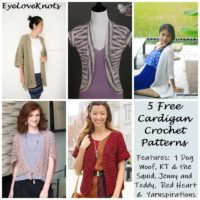 5 Free Cardigan Crochet Patterns – Round Up