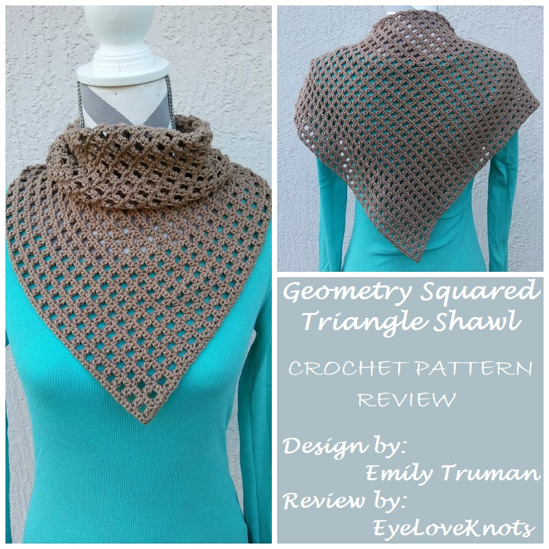 Geometry Squared Triangle Shawl Crochet Pattern Review