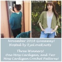 November 2018 Giveaway – Moss Cardigan & Crochet Patterns