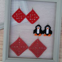 DIY Framed Mesh Earring Holder – Thrift Store Upcycle