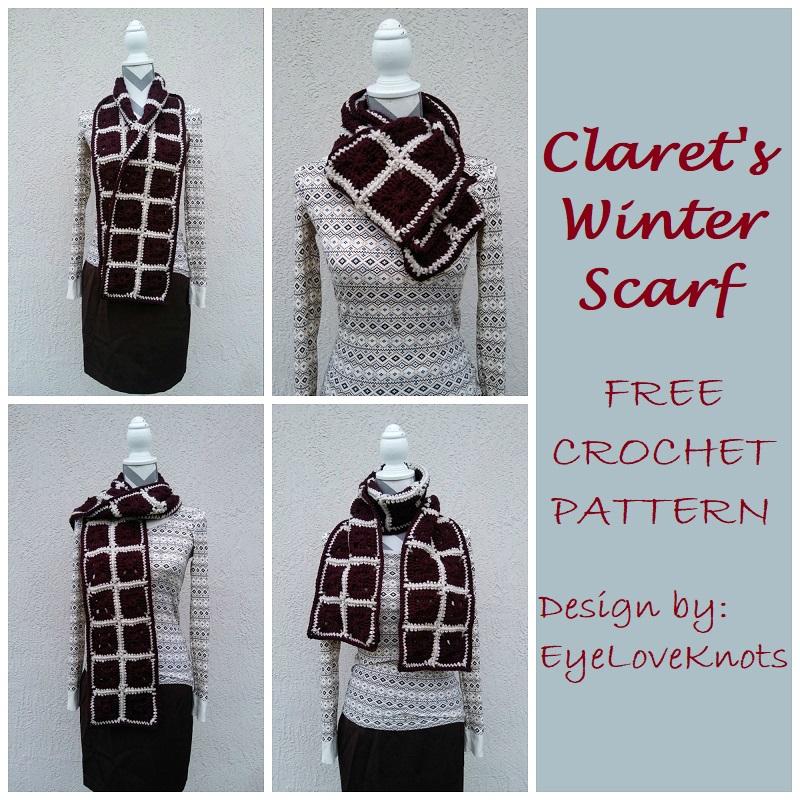 77d0b42611e Claret s Winter Scarf – Free Crochet Pattern
