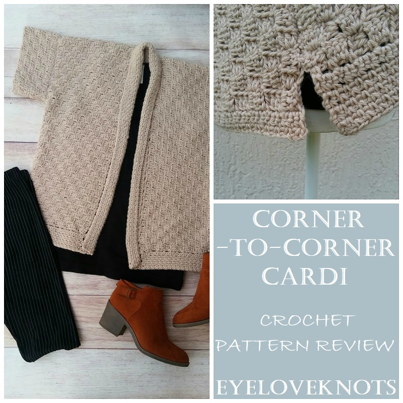 Consumer Crafts Review >> Corner To Corner Cardi Crochet Pattern Review Annie S