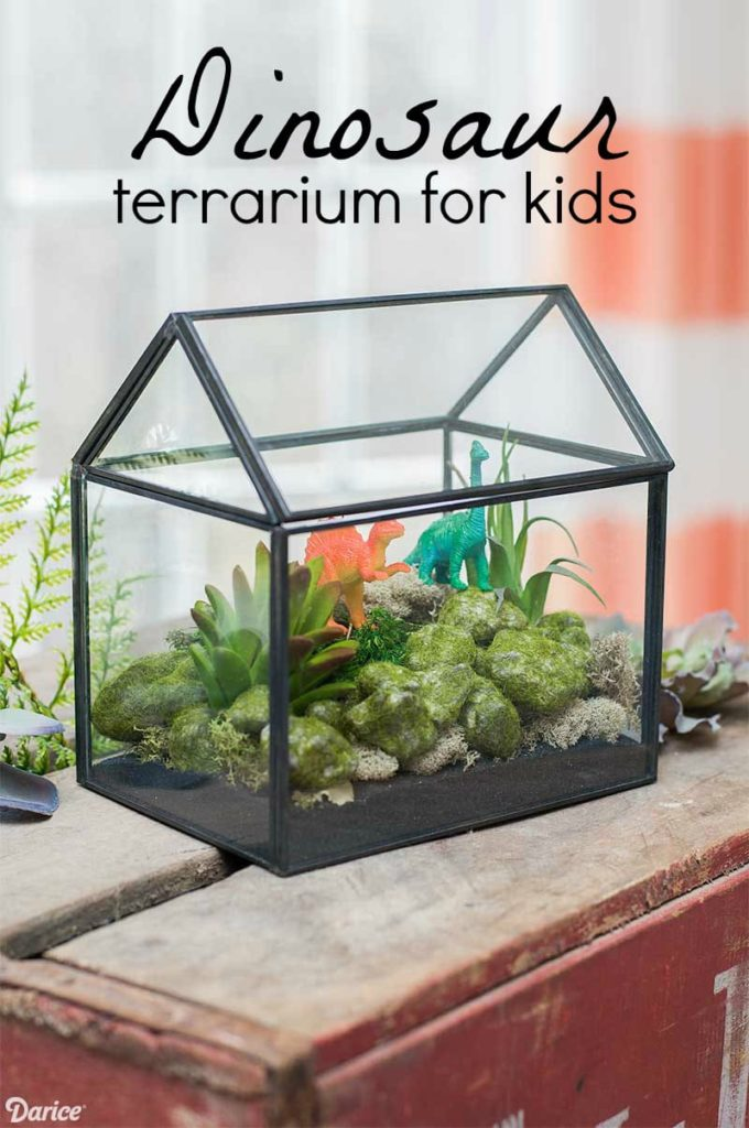 Dinosaur Terrarium for Kids from Crafts by Courtney, On Rockwood Lane