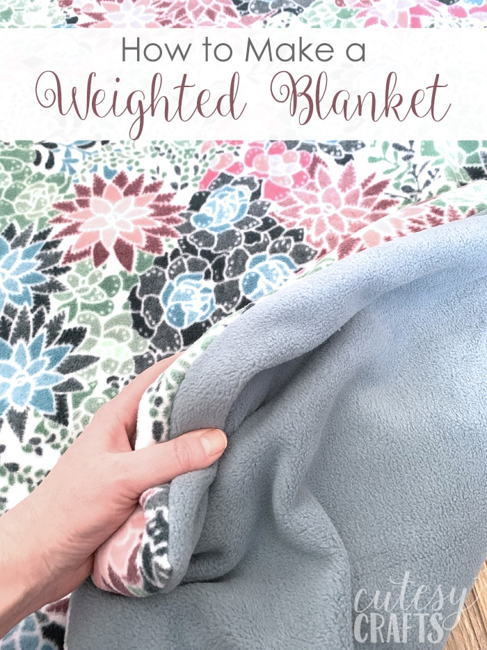 How to Make a Weighted Blanket (Free Sewing Pattern with Photos) from Cutesy Crafts, On Rockwood Lane