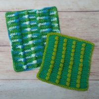Vertical Garden Bobble Washcloths – Free Crochet Pattern