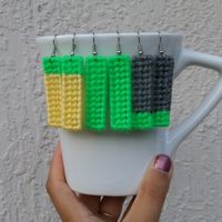 Color Block (or Not) Earrings – Free Plastic Canvas Pattern