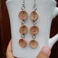 Button Trio Dangle Earrings – Easy Jewelry DIY