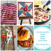 Snickerdoodle Create Bake Make Link Party 290