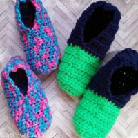 Kids Quick and Easy Slipper Socks – Free Crochet Pattern