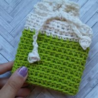 Dip-Dyed Soap Cozy or Small Gift Bag – Free Crochet Pattern