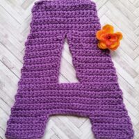 Crocheted Letter A – Crochet Pattern Review – 3amGraceDesigns