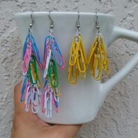 Thread & Paper Clip Earrings – Free Crochet Pattern & Jewelry Tutorial