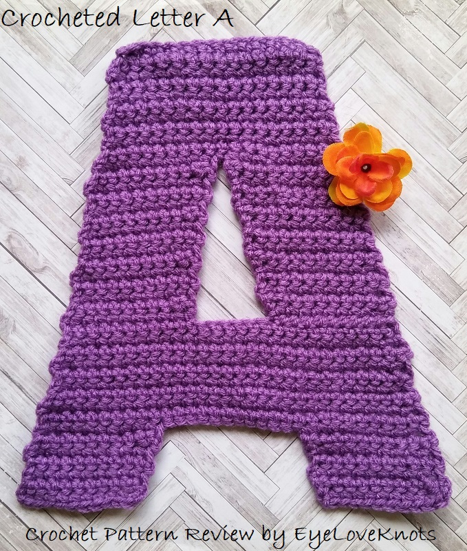Consumer Crafts Review >> Crocheted Letter A Crochet Pattern Review 3amgracedesigns