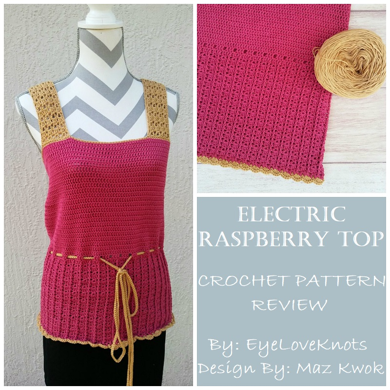 Consumer Crafts Review >> Electric Raspberry Top Crochet Pattern Review