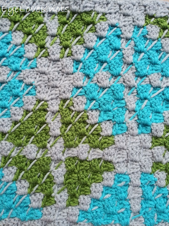 Back view of the C2C Window Pane Throw Pillow Square