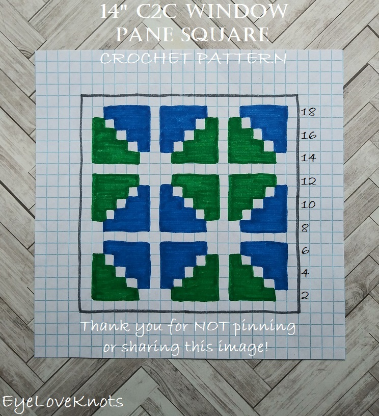 "Chart for 14"" C2C Window Pane Square"