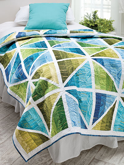Inspiration photo from Annie's Catalog of Prismatic Quilt.
