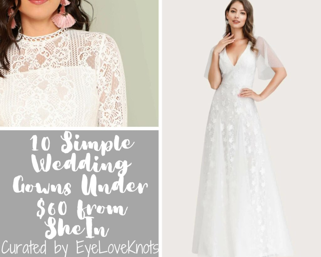 10 Simple Wedding Gowns Under 60 From Shein
