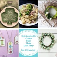 5 Spring DIYs including how to set the table for St. Patrick's Day, how to make ham and cheese pasta, how to make a green wreath, how to make popsicle stick earrings and how to make a dollar store Spring wreath.