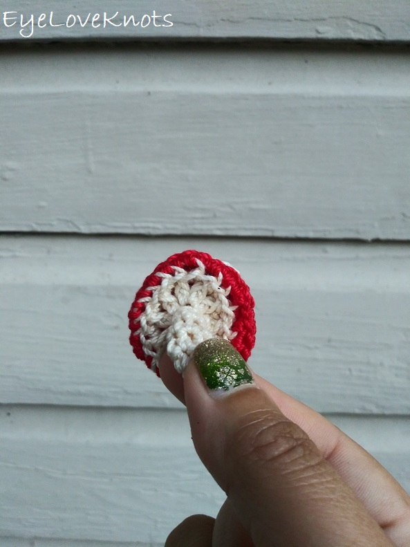 close up look at the textured bottom of Faye's Lightweight Toadstool