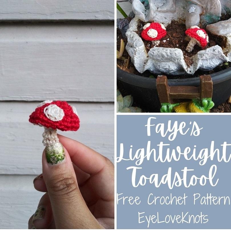 Faye's Lightweight Toadstool Free Crochet Pattern by EyeLoveKnots