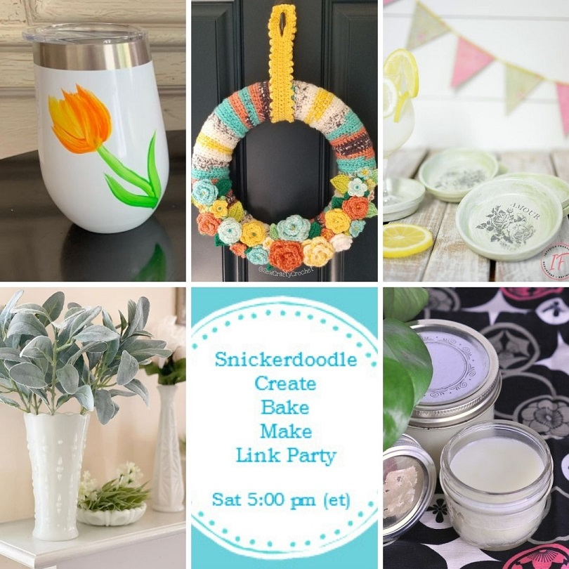 Snickerdoodle Create Bake Make Link Party 381