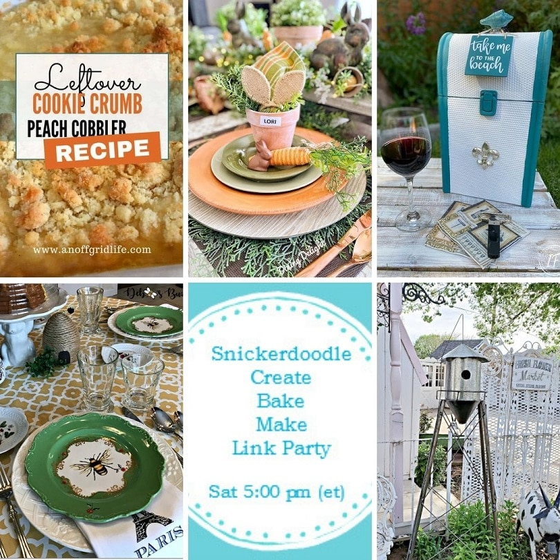 Snickerdoodle Create Bake Make Link Party 382