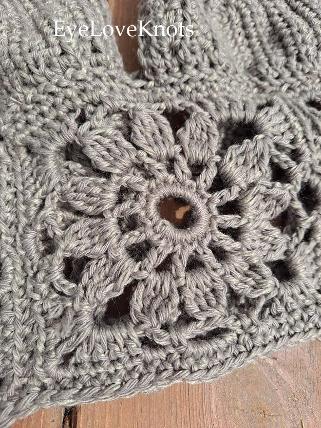 floral crocheted square