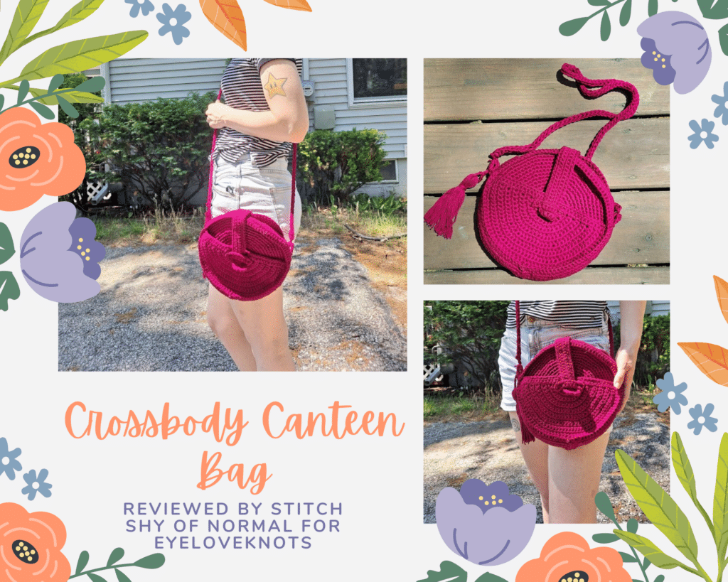 Crossbody Canteen Bag - Crochet Pattern Review by A Stitch Shy of Normal for EyeLoveKnots